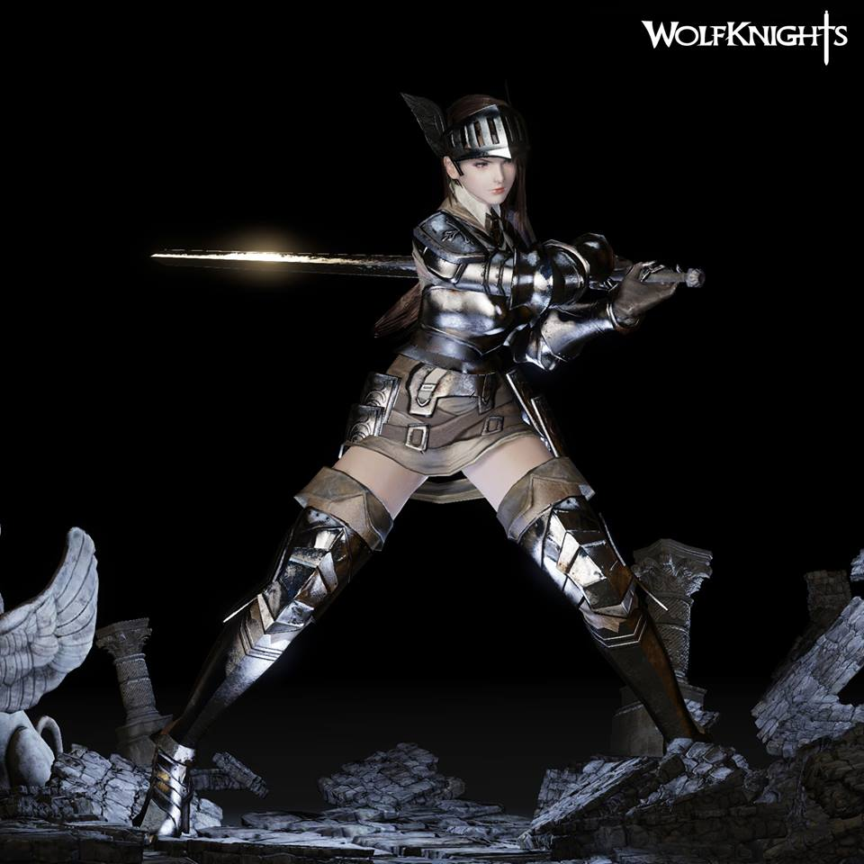 Wolfknights character model 2