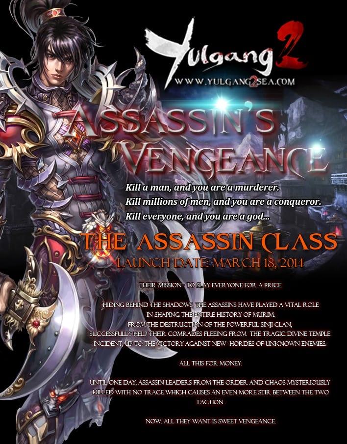 Yulgang 2 Assassin info