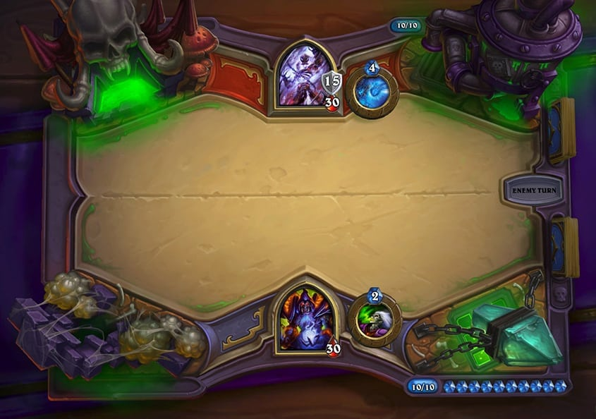 Hearthstone Curse of Naxxramas game board design