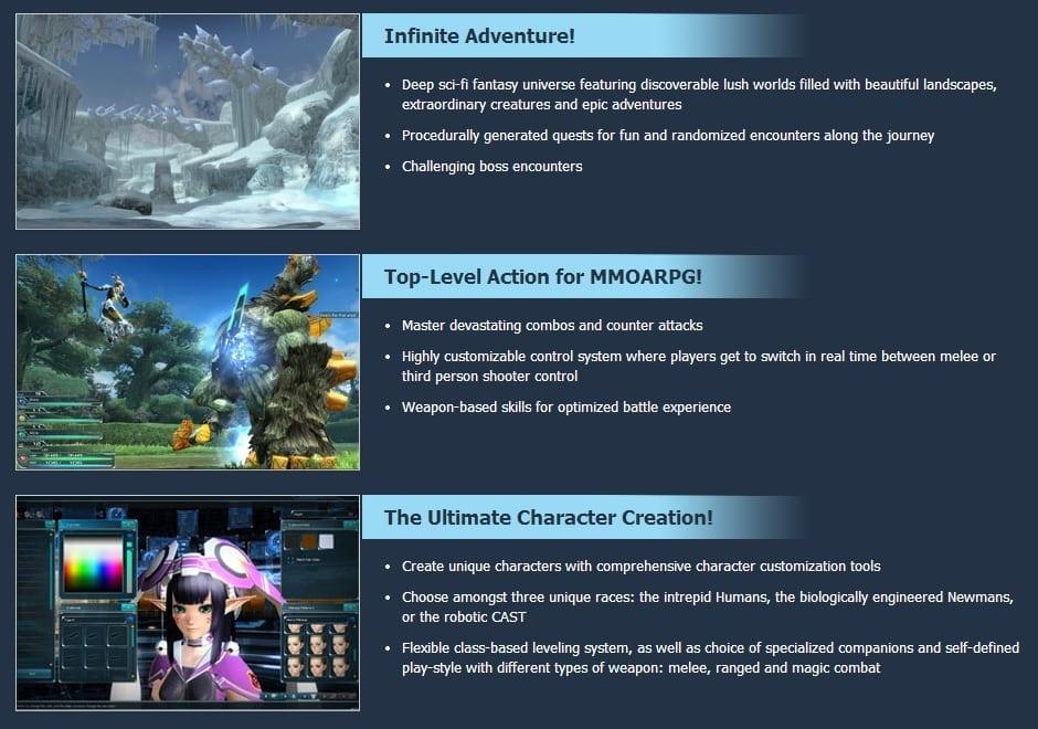 Phantasy Star Online 2 features