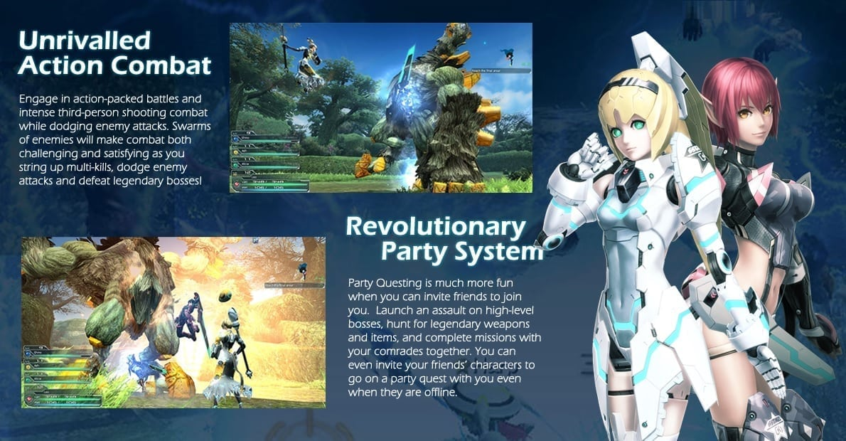 Phantasy Star Online 2 features