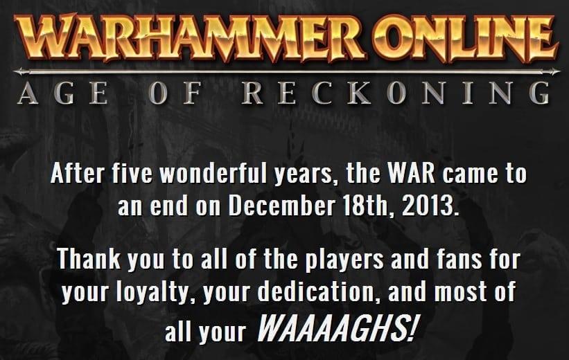 Warhammer Online closure