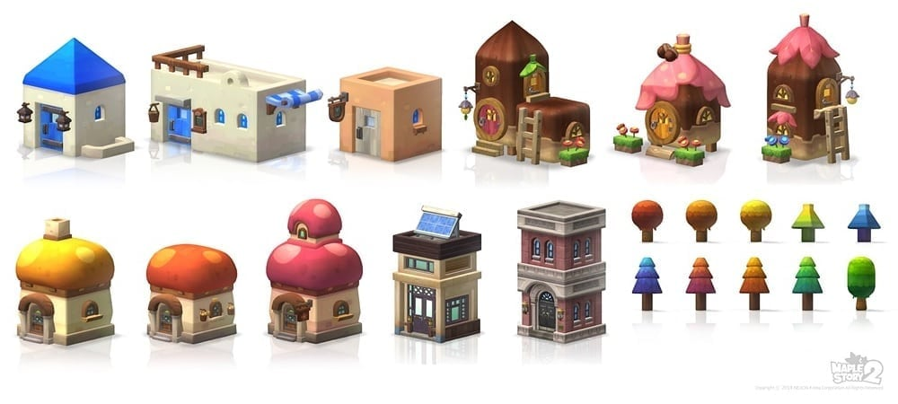 MapleStory 2 structure models