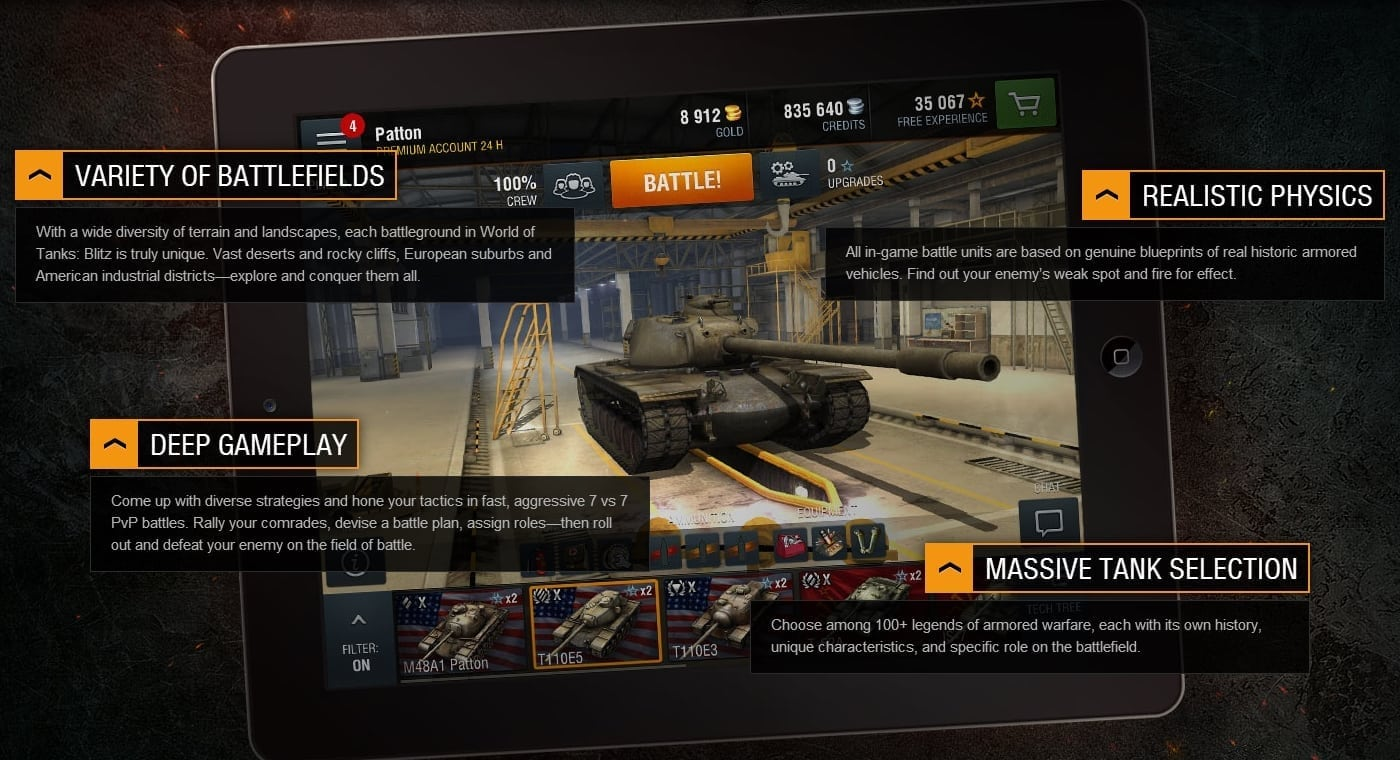 World of Tanks Blitz features