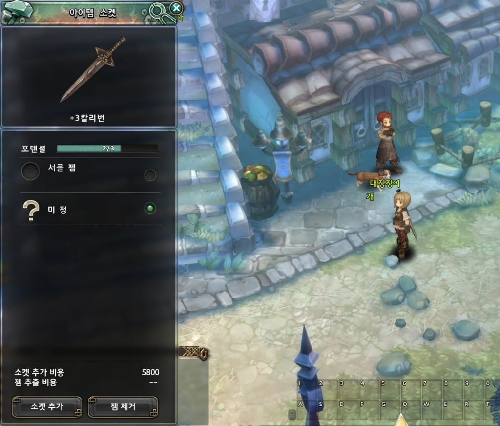 Tree of Savior - Item sockets