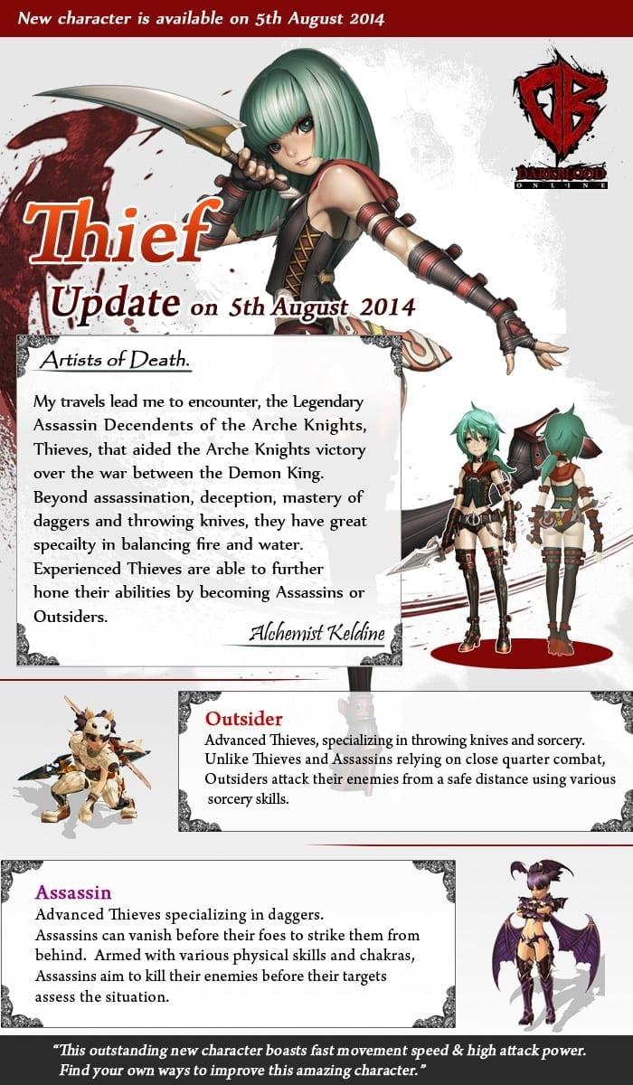 Dark Blood Online - Thief introduction