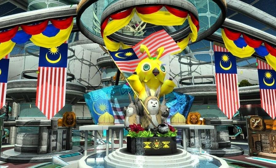 Phantasy Star Online 2 SEA - Malaysia National Day lobby