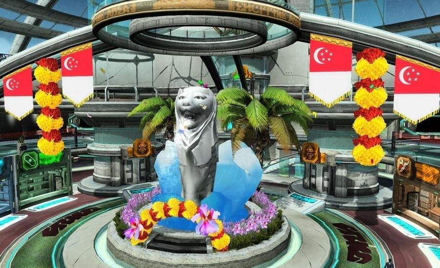 Phantasy Star Online 2 SEA - Singapore National Day lobby