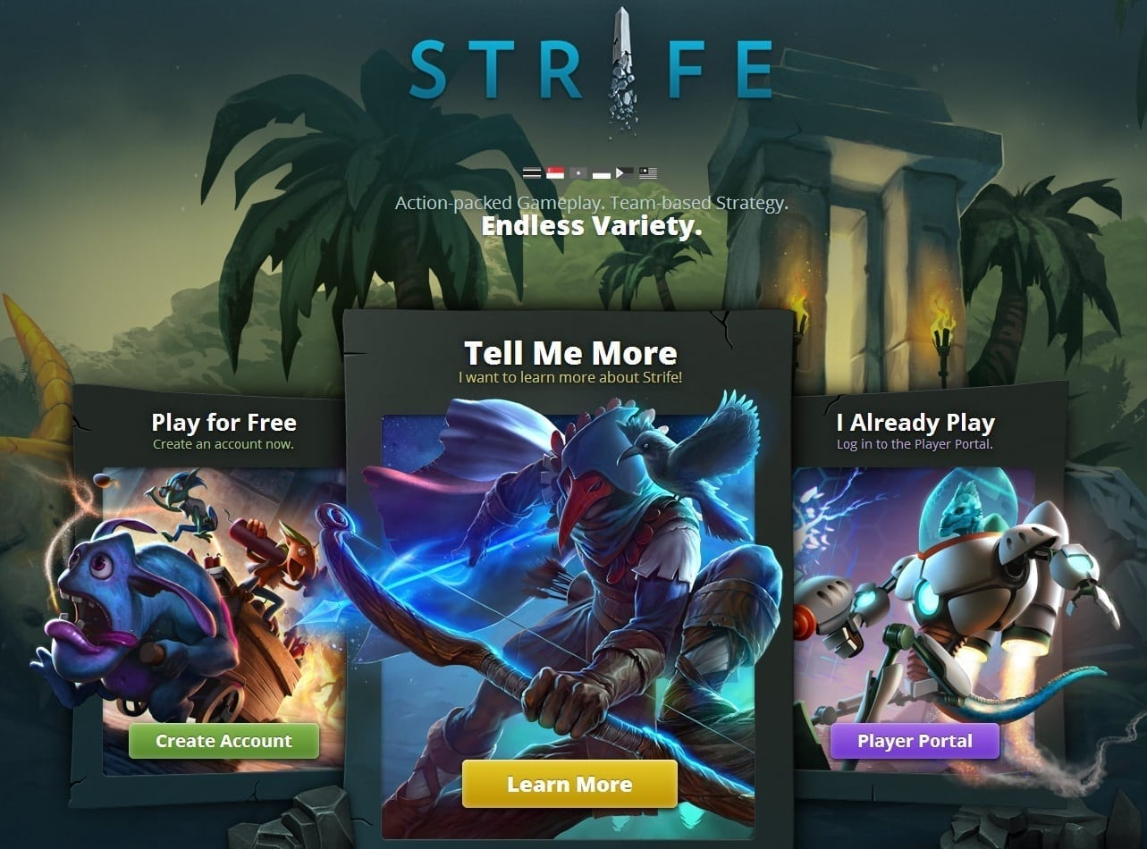 Strife SEA website