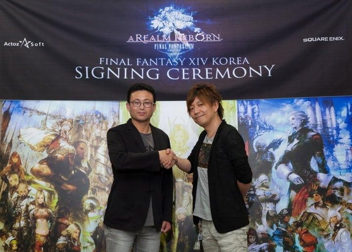 Final Fantasy XIV Korea signing ceremony
