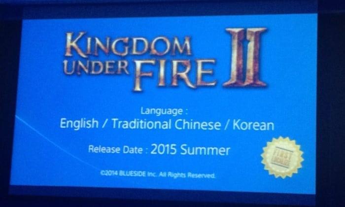Kingdom Under Fire II - Tokyo Game Show 2014 image