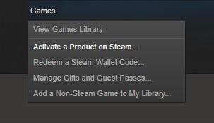 Steam - Key activation