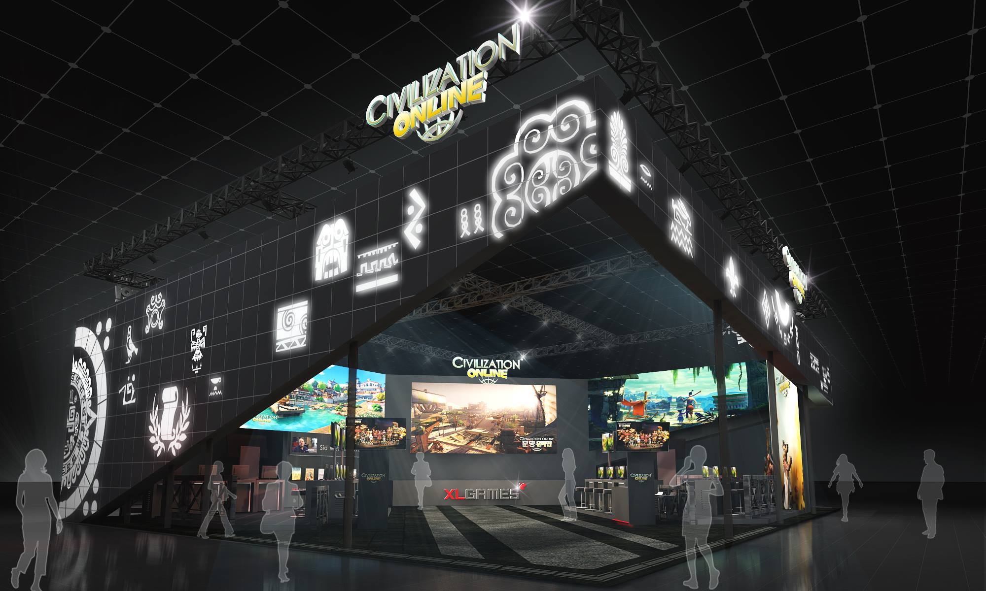 Civilization Online G-Star 2014 booth design