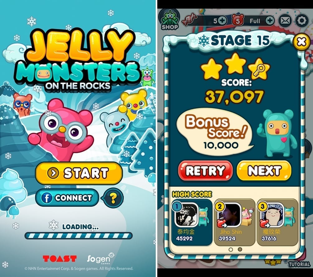 Jelly Monsters on the Rocks screenshot 1