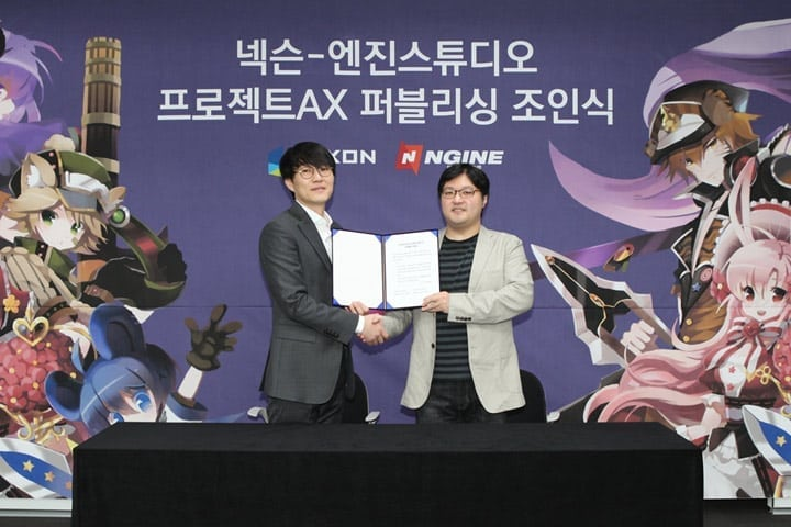 Project AX - Nexon and Ngine Studios signing ceremony