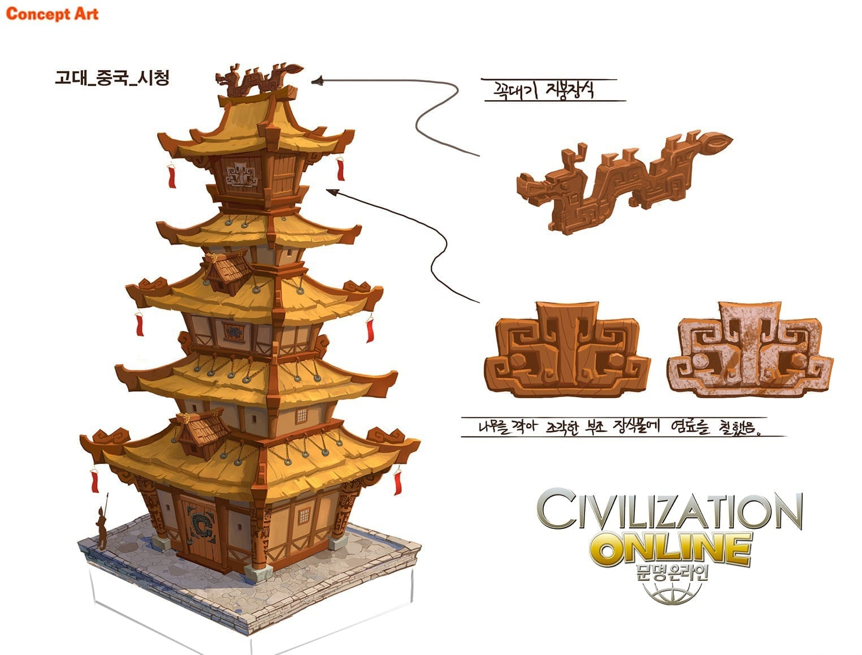 Civilization Online - Chinese building concept art