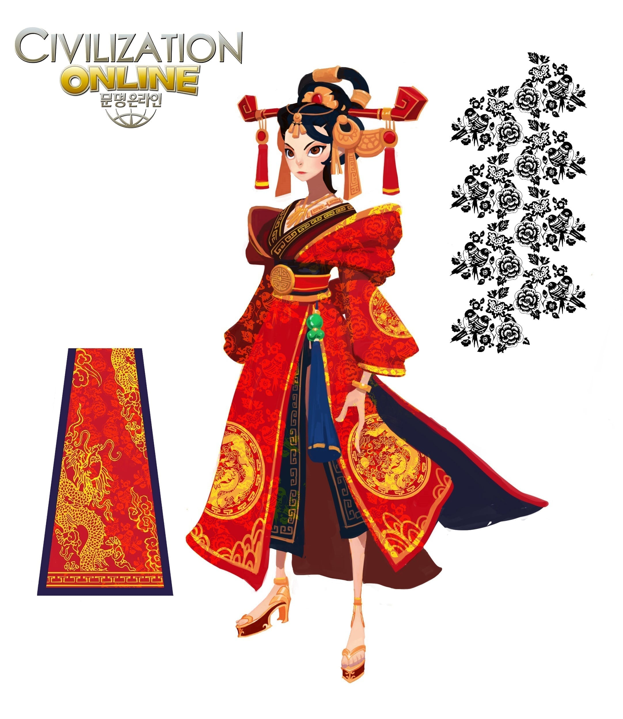 Civilization Online - Chinese female concept art