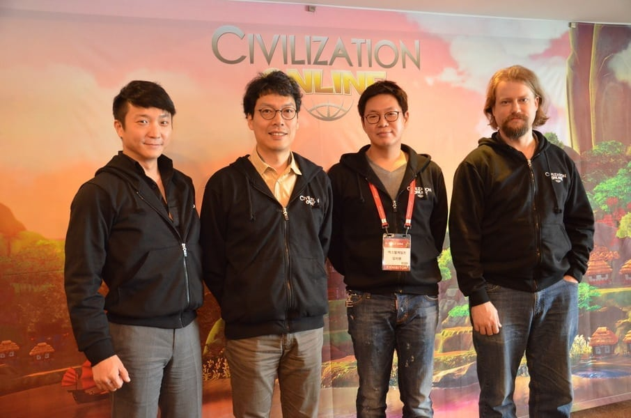 Civilization Online - Jake Song and development executives