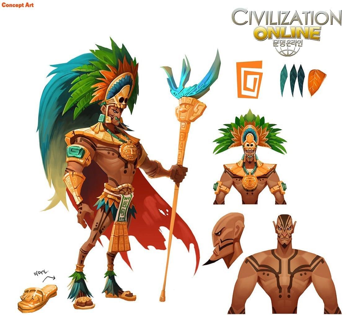 Civilization Online - Moctezuma II concept art