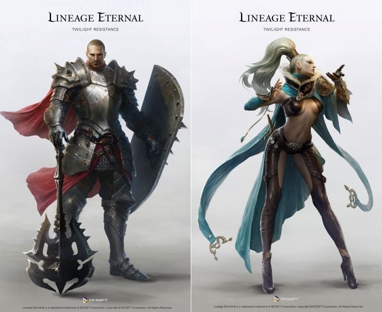 Lineage Eternal - Knight and Elementalist classes