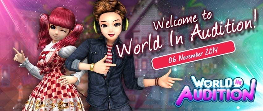 World in Audition banner