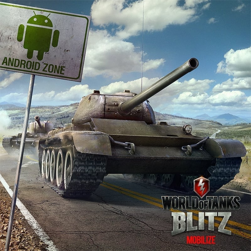 World of Tanks Blitz Android launch poster