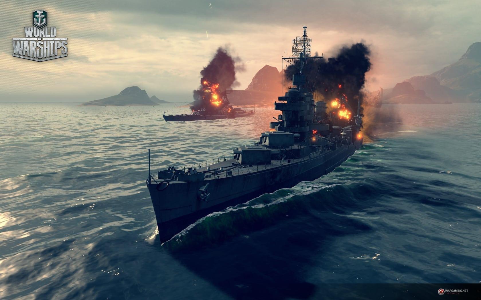 World of Warships combat screenshot 1