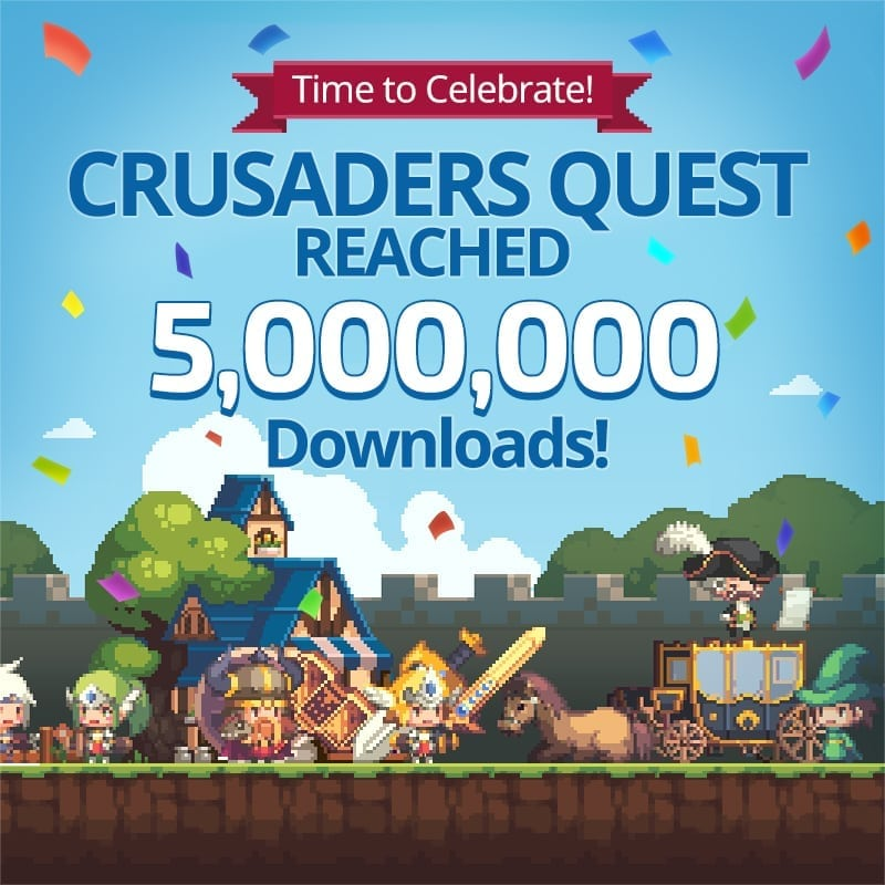 Crusaders Quests - 5 million downloads