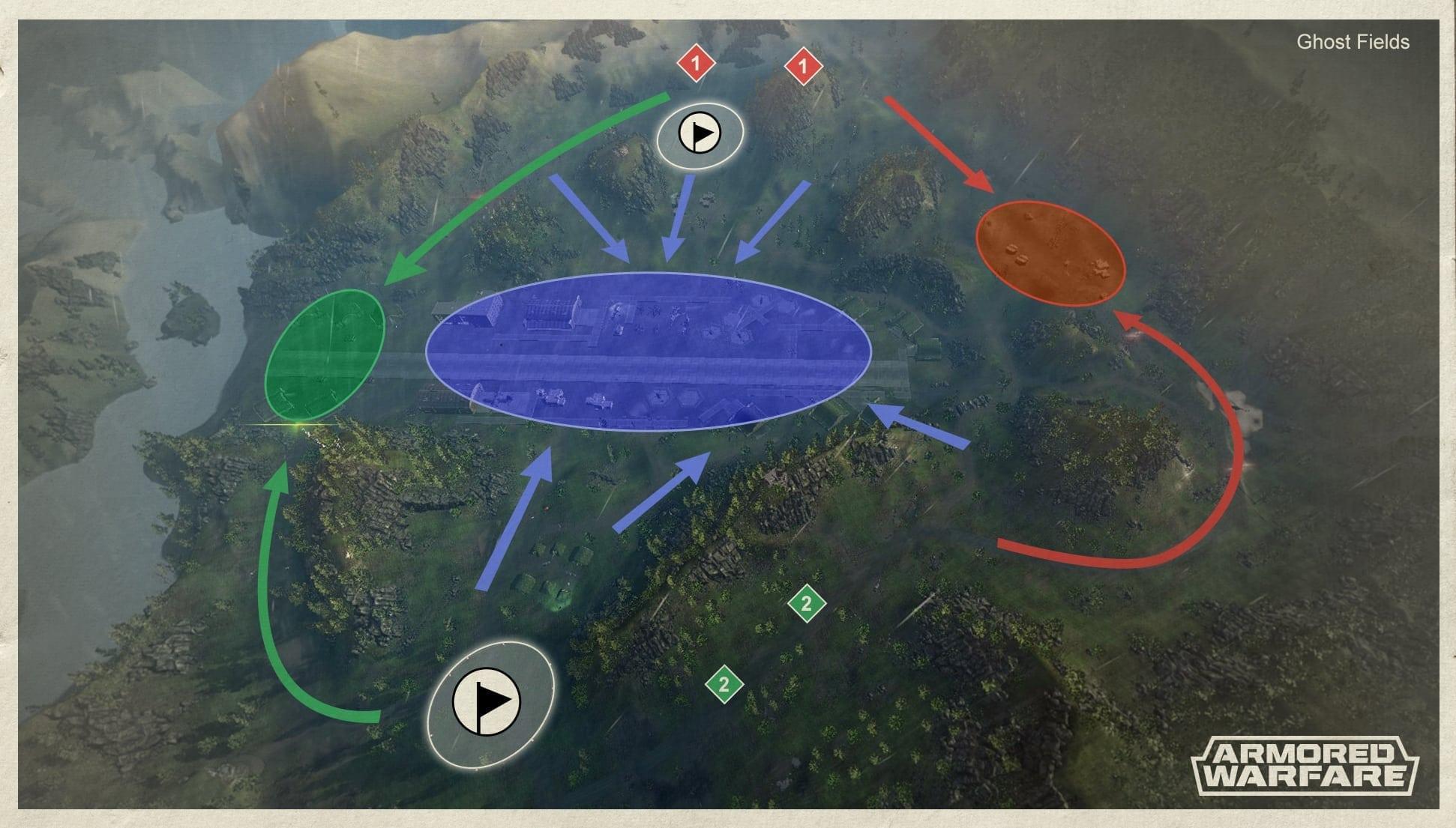 Armored Warfare - Ghost Fields zones