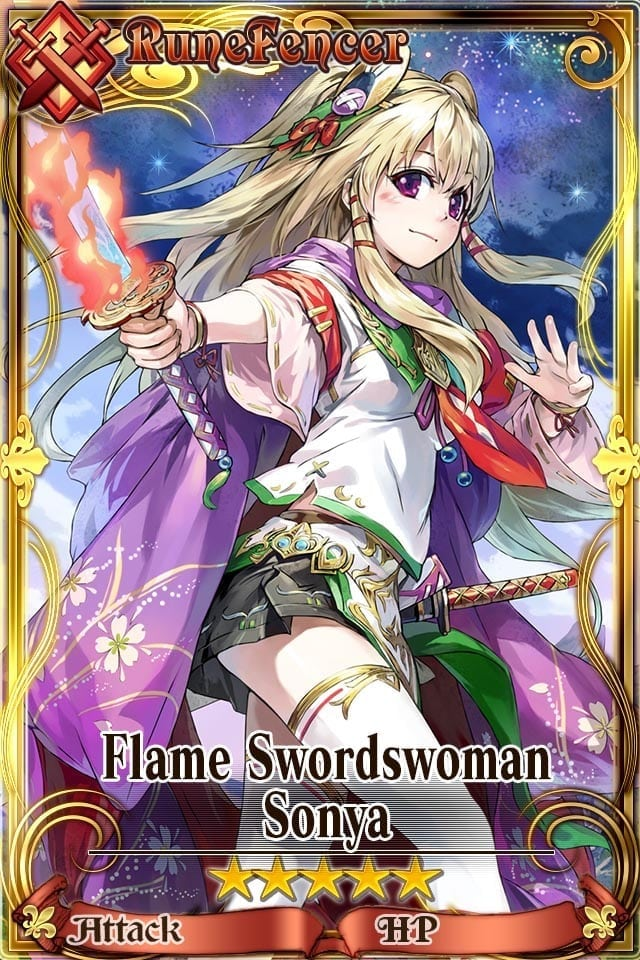 Chain Chronicle - Flame Swordswoman Sonya
