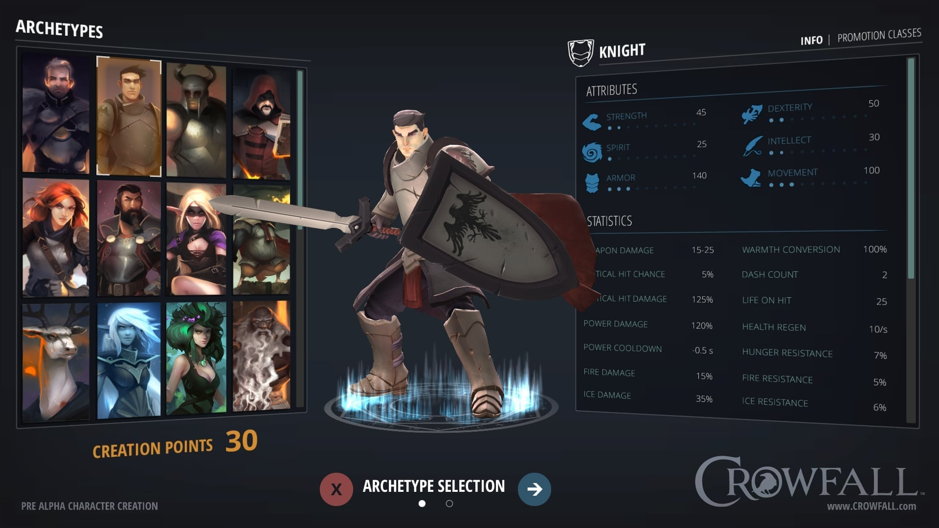 Crowfall - Character creation preview 1