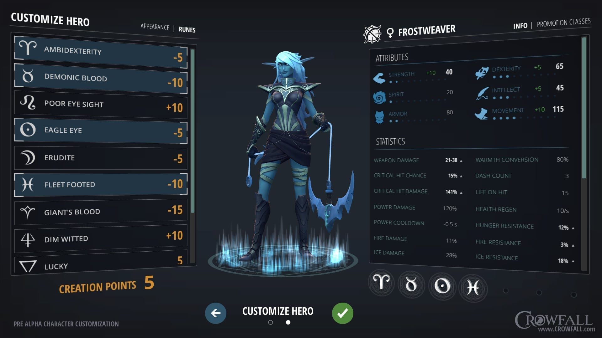 Crowfall - Character creation preview 2