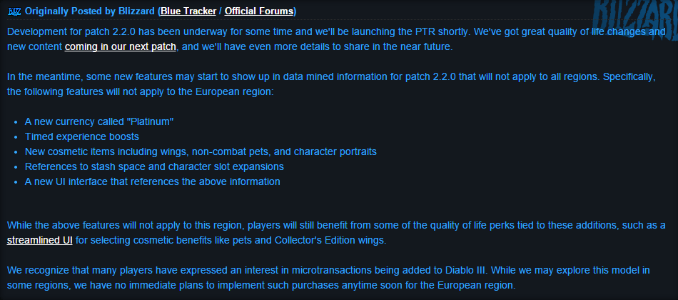 Diablo III Free-to-Play hint