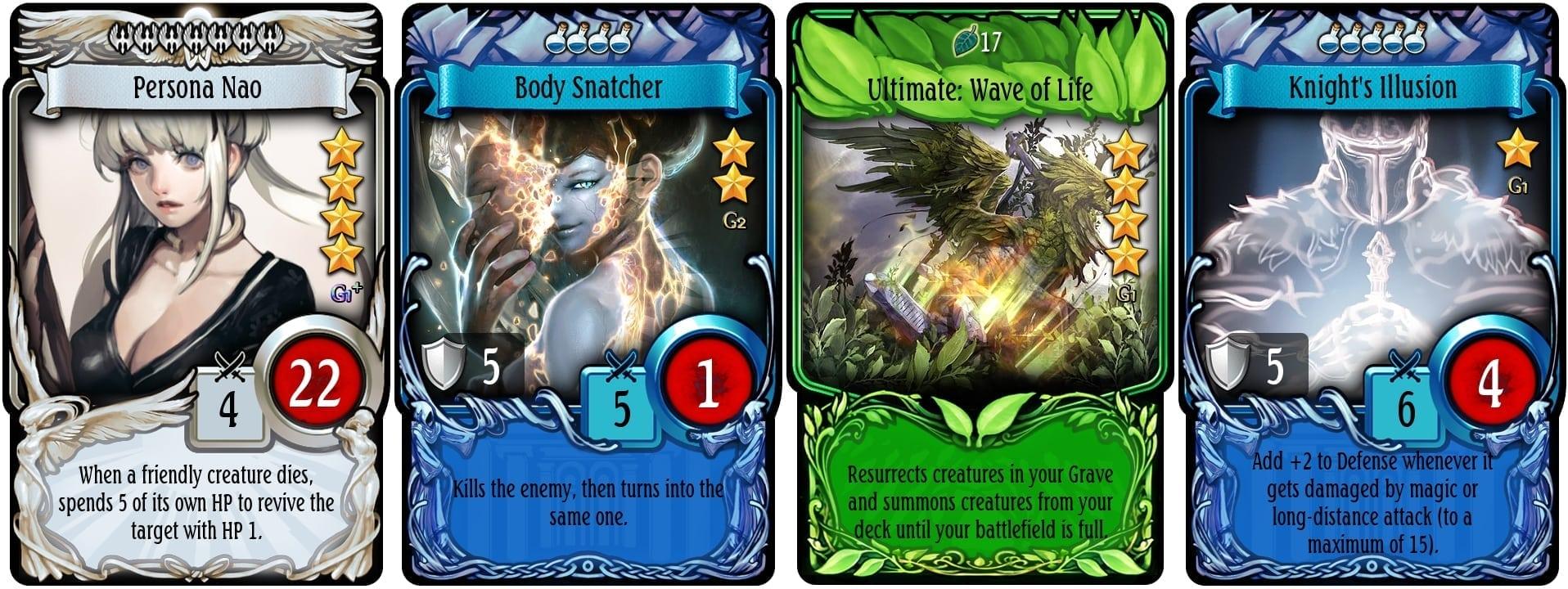 Mabinogi Duel - Card examples