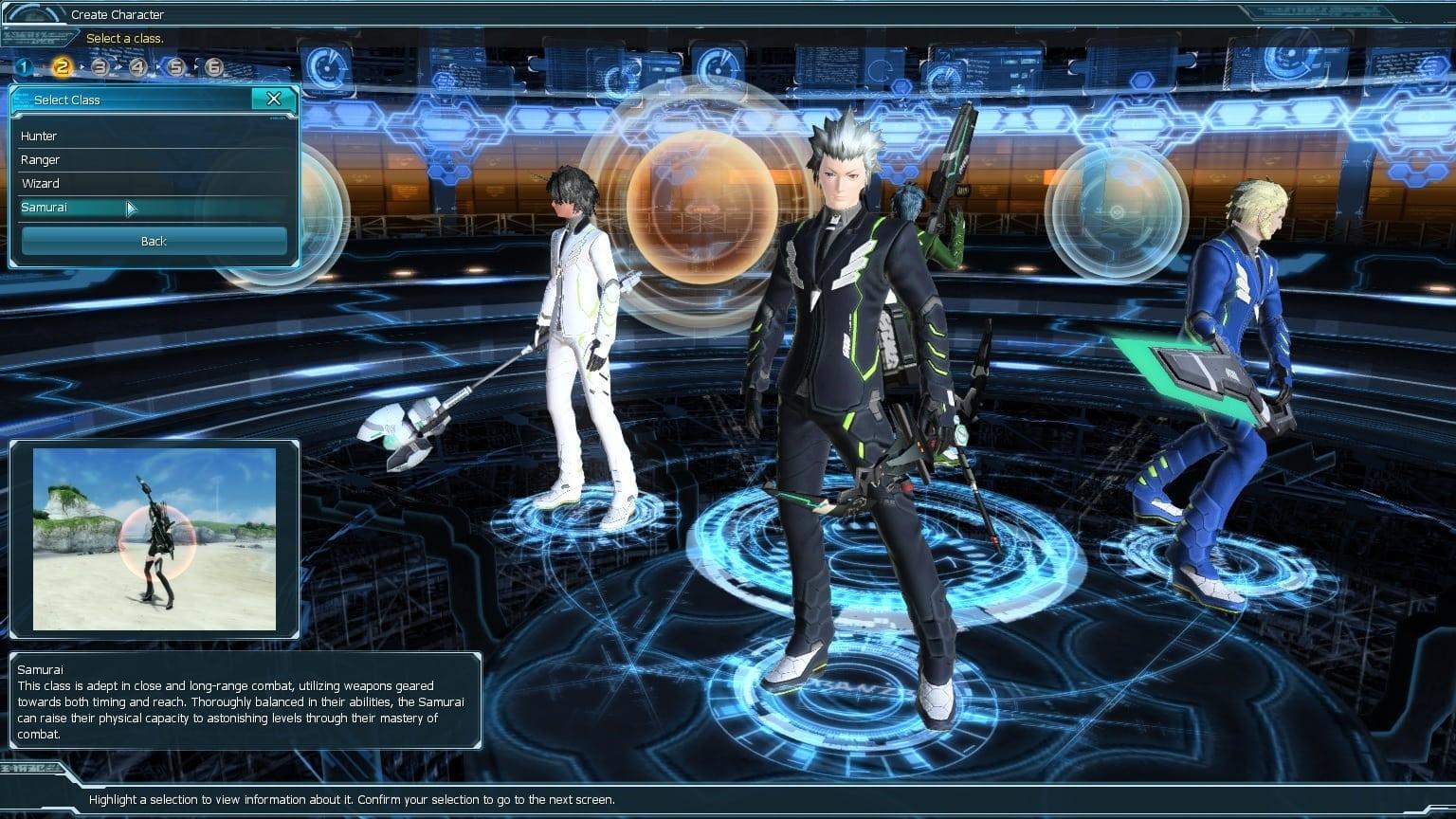 Phantasy Star Online 2 - Samurai class