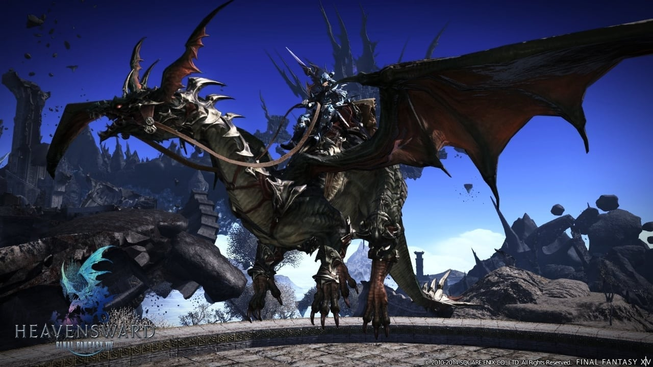 FInal Fantasy XIV Heavensward - Flying mount