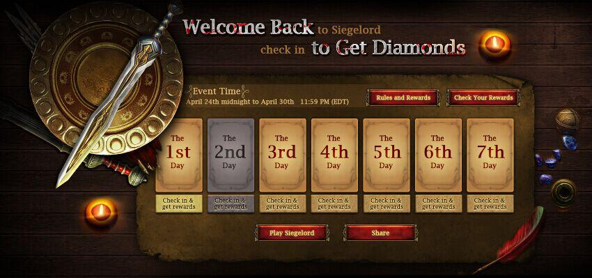 Siegelord - Diamonds event