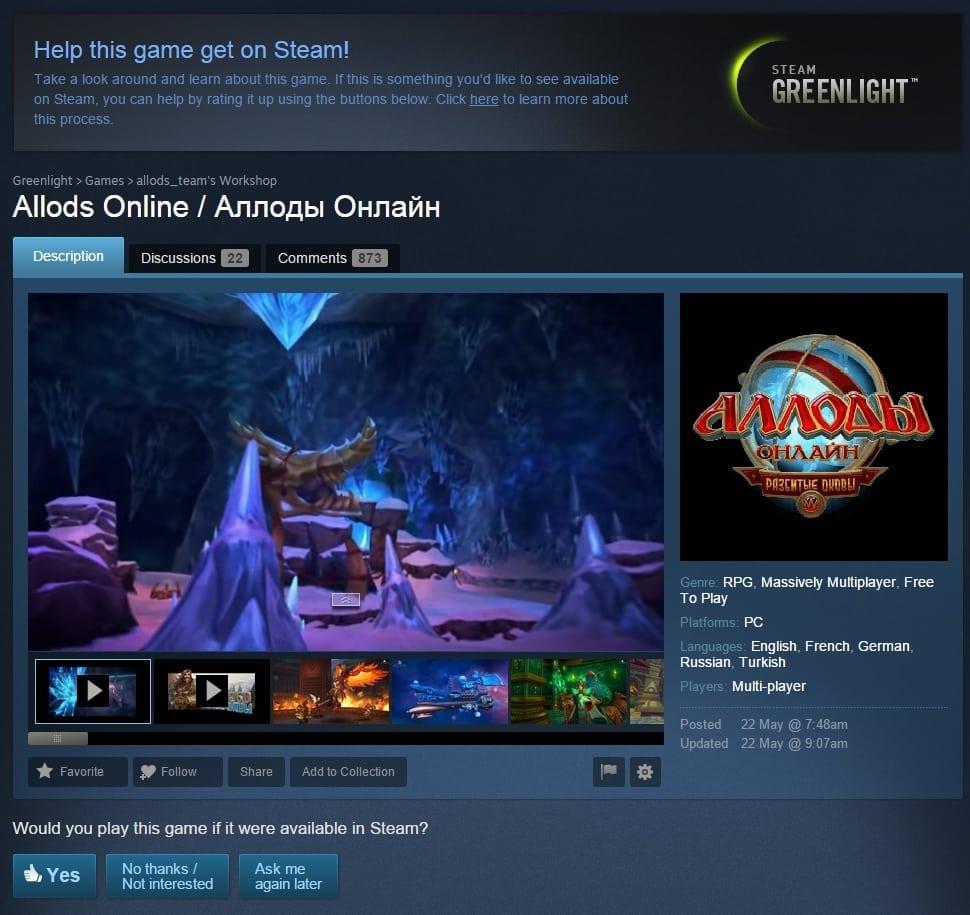 Allods Online Steam Greenlight