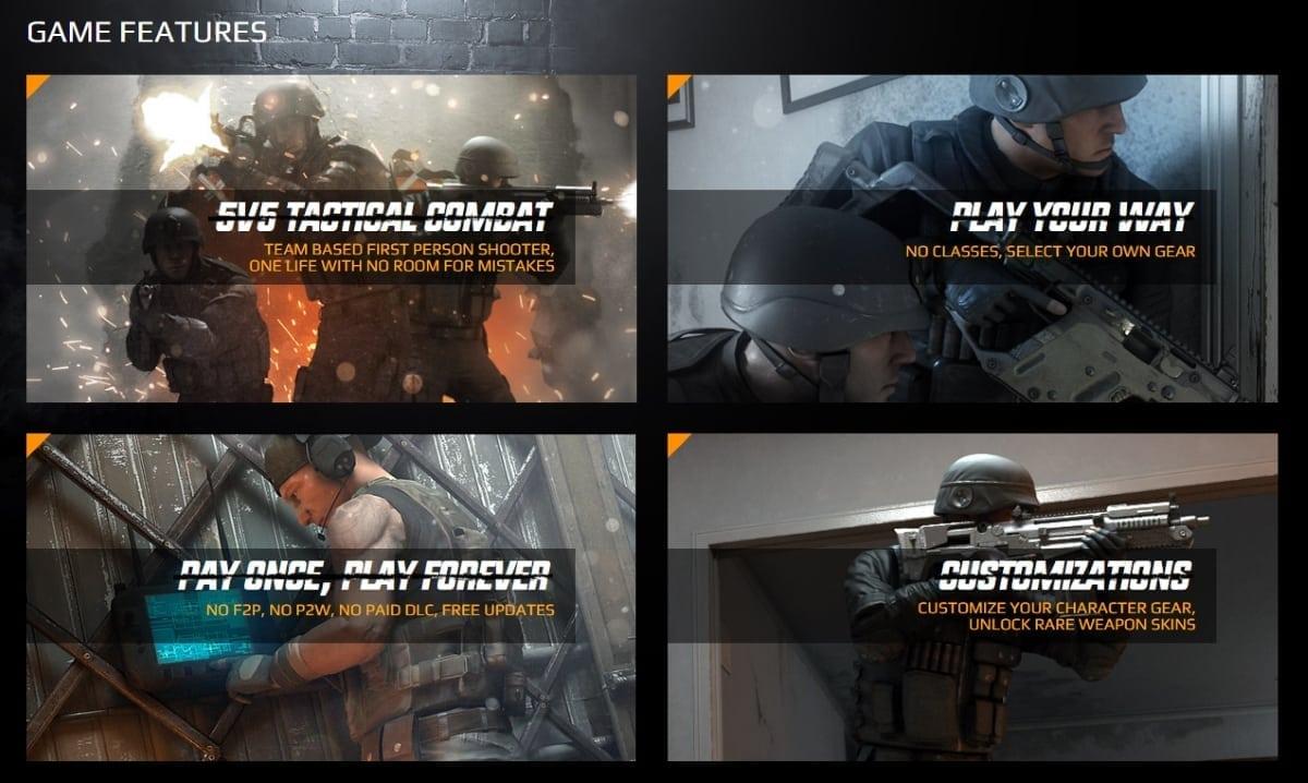 Burstfire game features