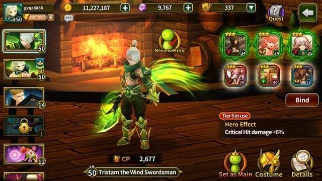 Elune Saga - Hero Soul set effect renewal 2