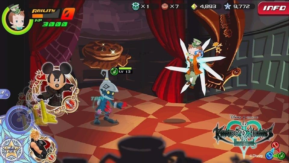 Kingdom Hearts Unchained χ screenshot 1