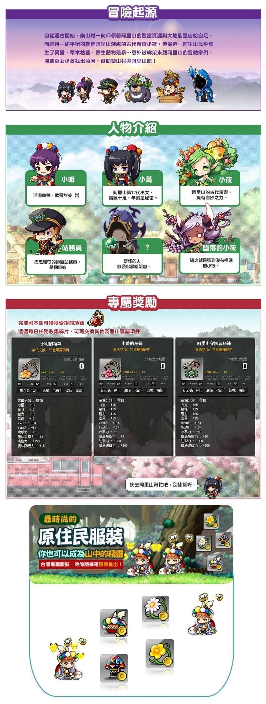 MapleStory Taiwan - Alishan details