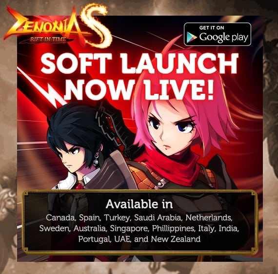 Zenonia S soft-launch countries