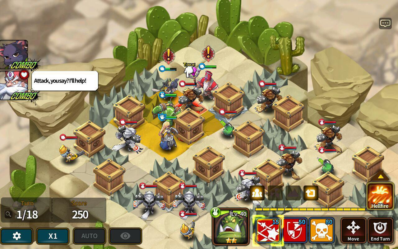 Fantasy War Tactics - Dungeon screenshot 1