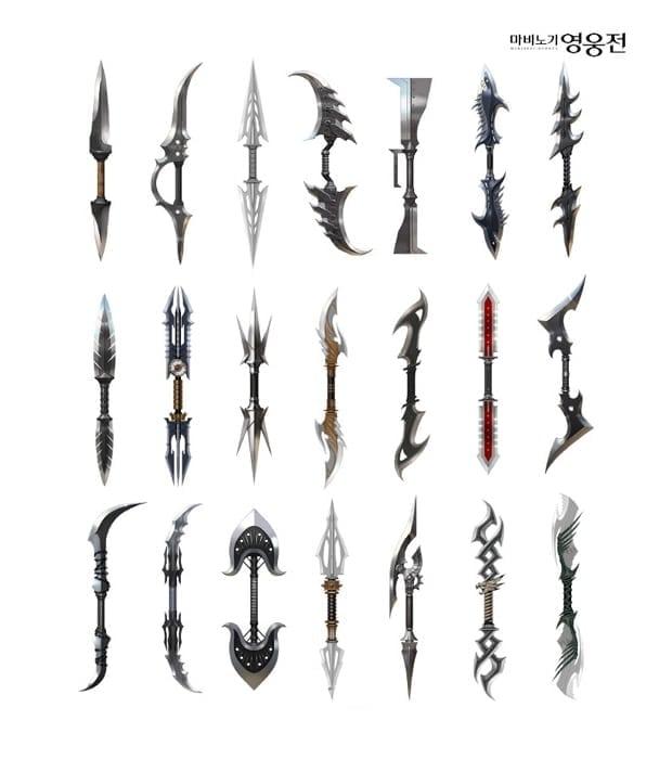 Mabinogi Heroes - Phantom Dagger designs