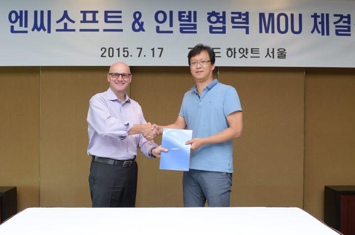 NCsoft and Intel collaboration photo