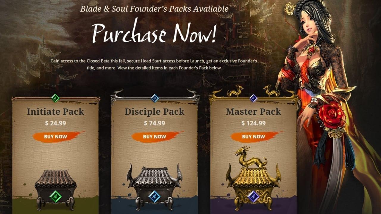 Blade & Soul Founder's Packs