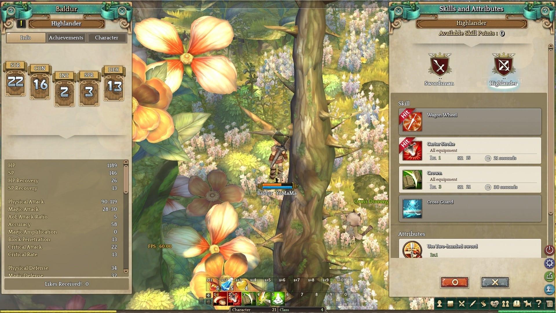 Tree of Savior - Stats and skills