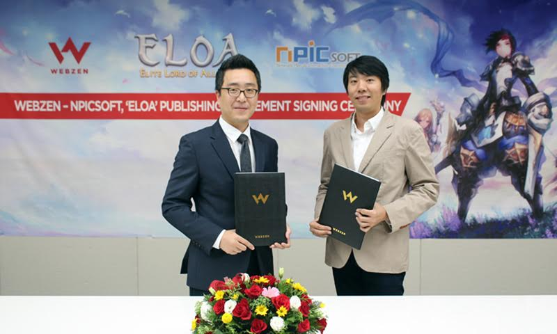 Elite Lord of Alliance - Webzen and NPICSOFT signing ceremony
