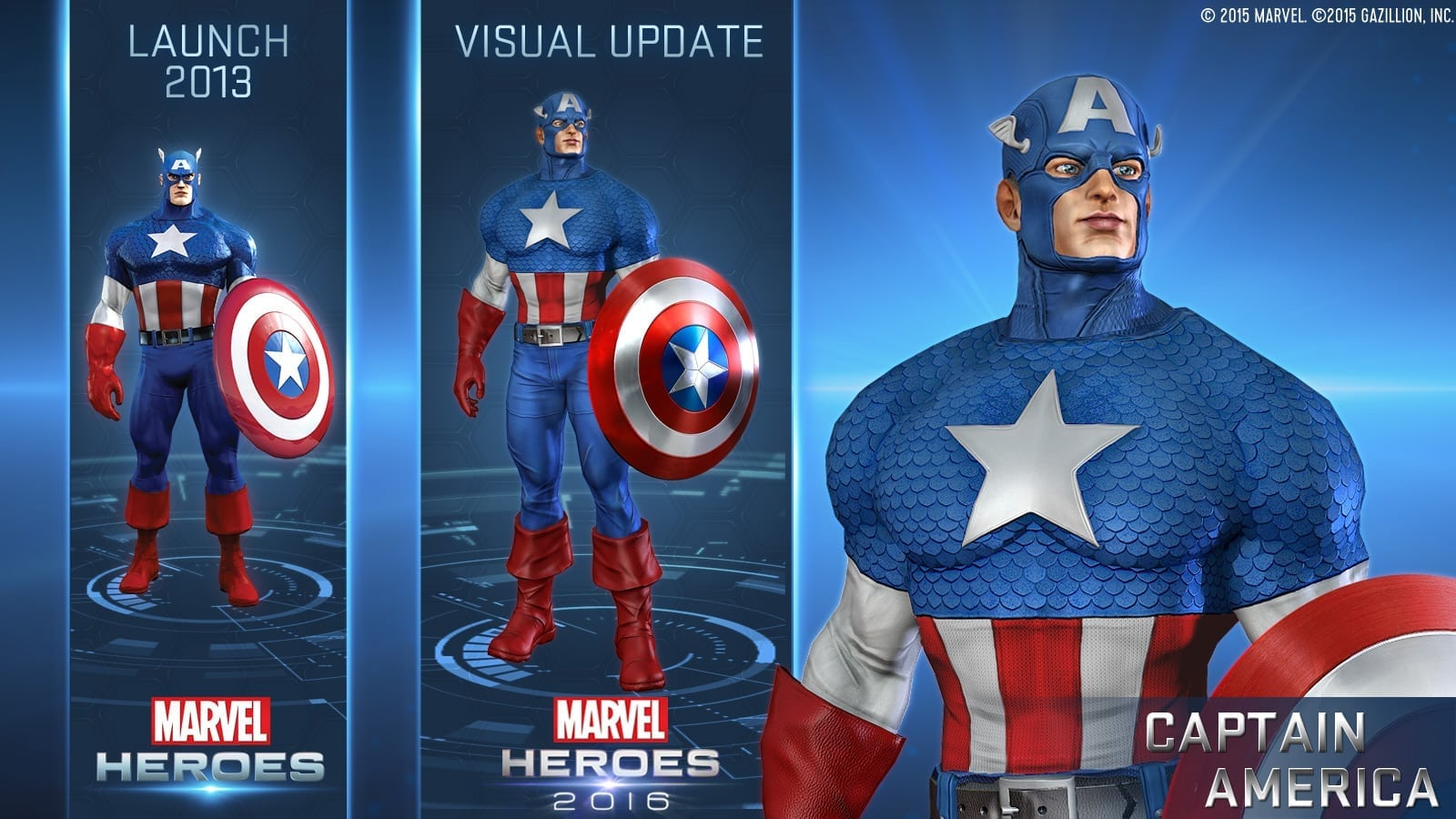 Marvel Heroes 2016 - Captain America visual update